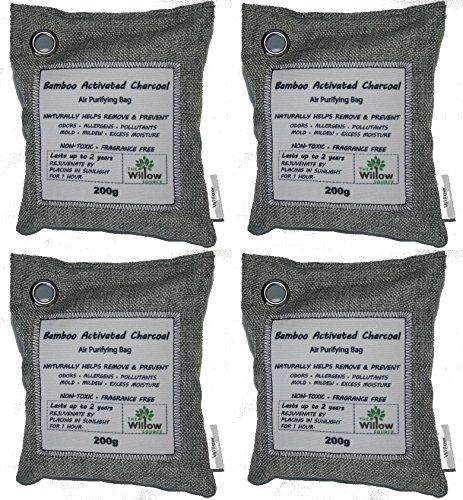 200g Natural Air Purifying Bags Moso Bamboo Activated